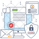 Confidential Information Document Protection Data Encryption Icon