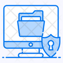 Confidential Information System Security System Protection Icon
