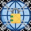Confidential Password Global Lock Confidential Icon