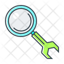 Configuration Magnifying Optimization Icon