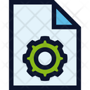 File Document Gear Icon
