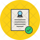 Confirm Approve Certificate Icon