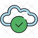 Confirm Cloud Verify Icon