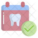 Confirm Dental Appointment Confirm Appointment Date Icon