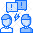 Conflict Aggression Comment Icon