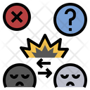 Conflict Disagreement Opposition Icon