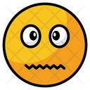 Confounded Sad Face Icon