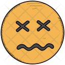 Confounded Face Scrunched Icon