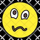 Confounded Emoji Confounded Emoticon Smiley Icon