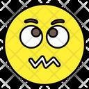 Confounded Emoji Confounded Emoticon Confounded Smiley Icon