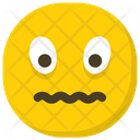Confounded Face Hushed Face Emoticon Icon