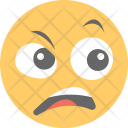 Surprised Anguished Face Icon