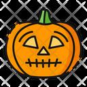 Confused Pumpkin Halloween Icon