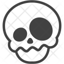 Confused Skeleton Halloween Icon