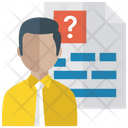 Confused Candidate Disturbed Applicant Job Search Icon