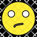 Confused Face Emoticon Smiley Icon