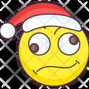 Confused Santa Emoji Confused Santa Expression Emotag Icon
