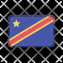 Congo Democratic Flag Country Icon