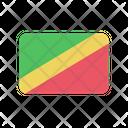 Congo Republic Flag Country Icon