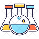 Conical Flasks Lab Apparatus Elementy Flask Icon