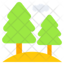 Conifer Tress Nature Icon