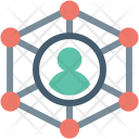 Connected User Networking Icon