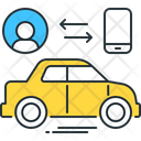 Connected Car Automobile Car Icon