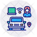 Connected Car Autonomous Car Icon