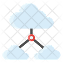 Connected Clouds Icon
