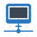 Connected computer Icon