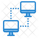 Connecting Communication Network Information Computer Monitor Icon