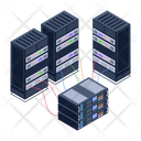 Server Room Data Servers Connected Databases Icon