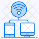 Connected Devices Internet Network Broadband Network Icon
