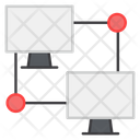 Lan Network Local Area Network Connected Devices Icon
