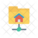Connected Folder Network Icon