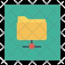 Connected Folder Document Folder Icon