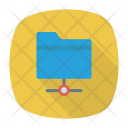 Connected Folder Network Data Icon