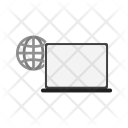 Connected Laptop Icon