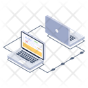 Devices Connected Laptops Connected Systems Icon