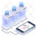 Client Server Connected Phone Phone Server Icon