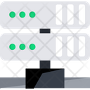 Server Data Transfer Connected Server Icon
