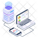 Connected Devices Client Server Connected Server Icon