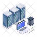 Server Room Server Data Display Connected Servers Icon