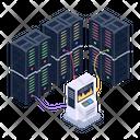 Data Centers Servers Server Room Icon