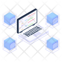 Shared System Connected System Connected Laptop Icon