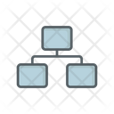 Connecting Connected Computer Icon