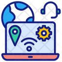 Connecting Online Business Icon