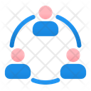 Connecting Group Connection People Icon