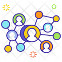 Connecting People Social Network People Communication Icon