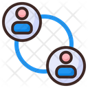 Connecting People People People Connect Icon